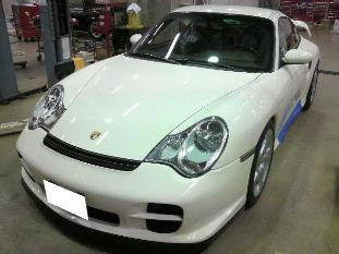 ポルシェ 911(996)GT2 ETCアンテナ移設