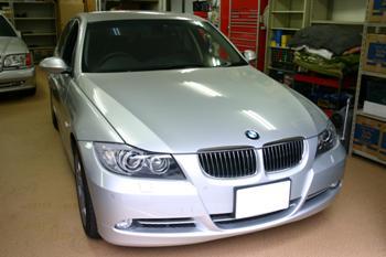 BMW E90 3シリーズ GPSレーダー取付
