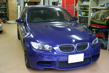 BMW E90 M3 AVインターフェイス+バックカメラ+レーダー+カーボントリム