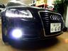 デモカー アウディA6アバント HIDフォグ&LEDナンバー灯